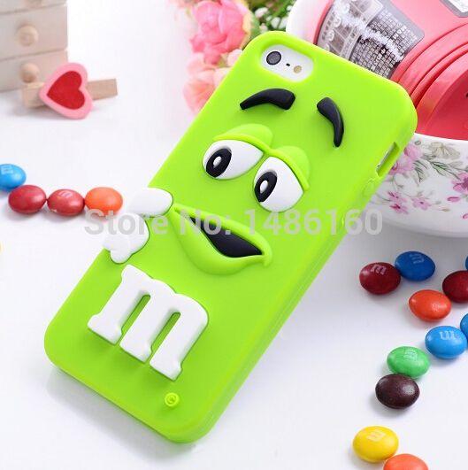 Симпатичные! бобы силиконовый м и м шоколад дизайн радуга мягкий чехол для iphone 4 4S 5 5S бесплатная доставка