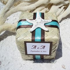 Cute packaging.  Beach Wedding Favors Wholesale     beach wedding
