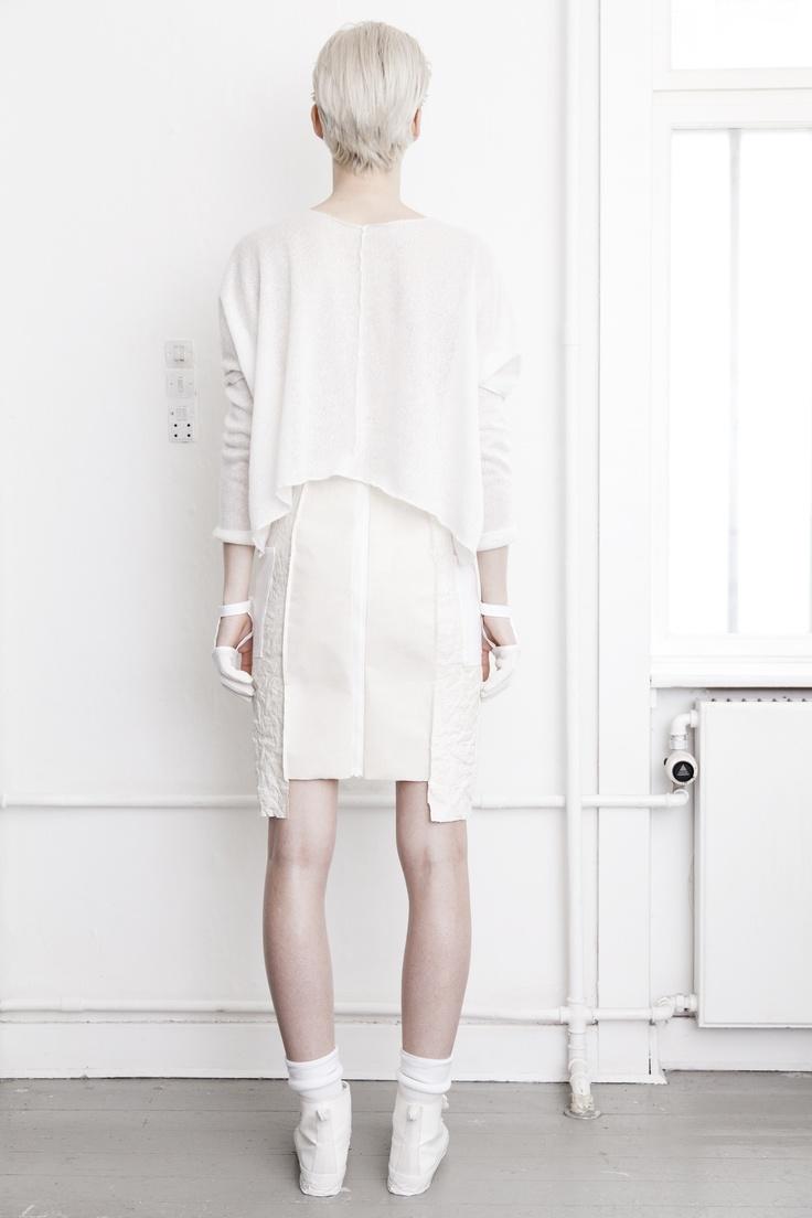 BEATE GODAGER // AW12WHITE #beategodager #womanswear #aw12white #scandinavian #fashion #conceptual #lookbook