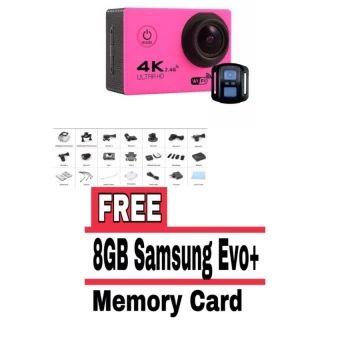 ลดราคา  Action Camera F60R 4K Wifi Action Camera Sport with remote -Pink(FREE 8GB SAMSUNG MMC) - intl  ราคาเพียง  2,322 บาท  เท่านั้น คุณสมบัติ มีดังนี้ Remote Shutter Control. convenient to take photo&video 4K 30fps. 2.7K 30fps. 1080P 60fps. 1080P 30fps. 720P120fps.720P 60fps. 720P 30fps Video Time-Lapsed Supported Slow Motion Video Supported Comes with a waterproof case. up to 30m waterproof 6G HD 170° degree wide angle lens Built-in WiFi for full camera control. live preview.photoplayback…