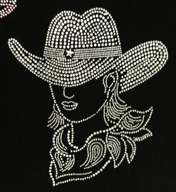 Rhinestone Transfer Western Cowgirl Guns Star by TexasRhinestone, $13.99