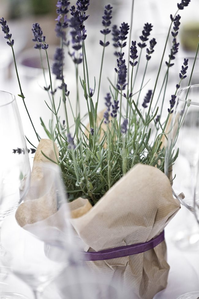 lavendel hochzeitsdeko - for the sweetheart table