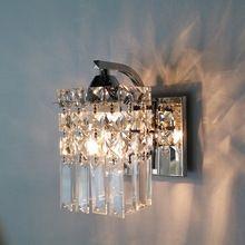 Led de cristal lâmpada de parede quarto moderno lâmpada de cabeceira sala lâmpada de parede corredor luz corredor parede espelho de luz(China (Mainland))
