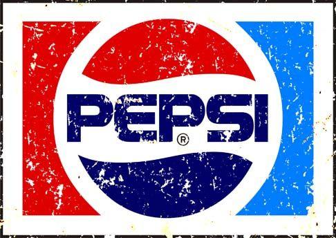 20059BEBIDAS - PEPSI-COLA - SIGN - modelo envelhecidaS - 41x29-