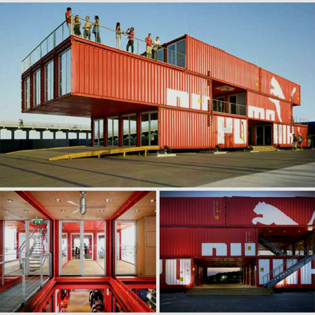 Modular shipping container pop up architecture for Structure container maritime