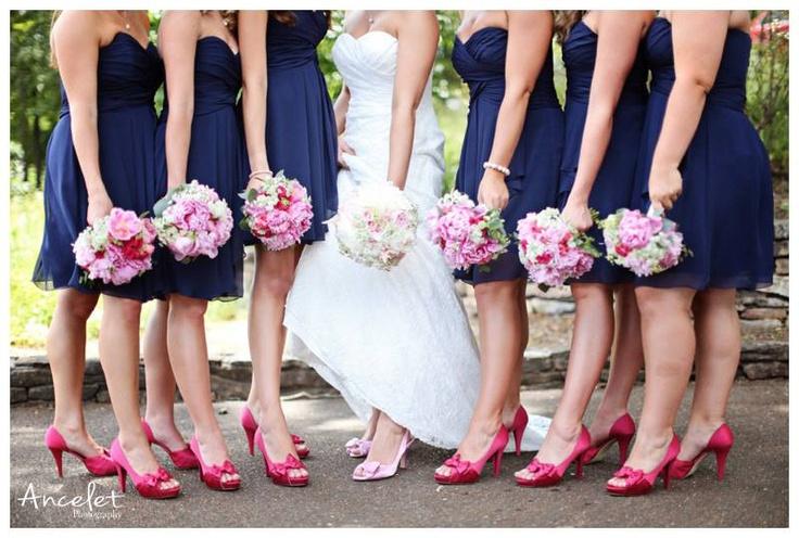 Navy Blue Dresses Shoes