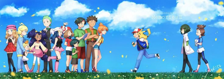 All of Ash's friends from all series Pokémon shows!wow!