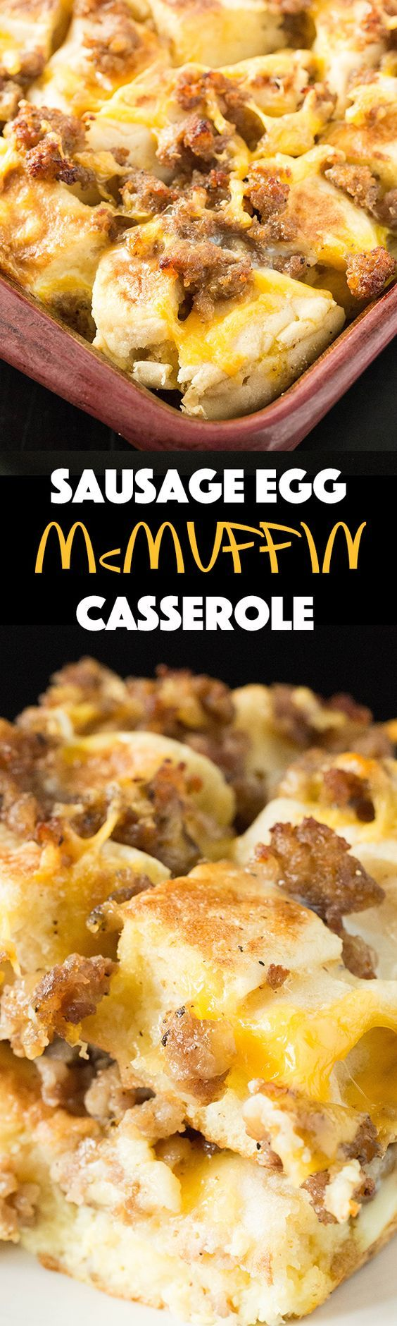 Sausage Egg McMuffin Breakfast Casserole - Breakfast Recipes