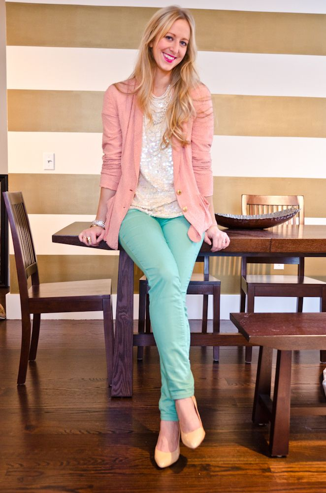 I can't wait to get me a pair of sea foam green skinny jeans!!!!