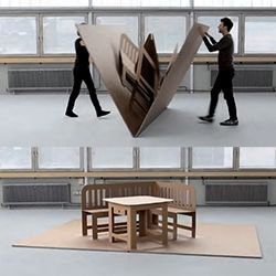 Liddy Scheffknecht's POP UP furniture is like a life sized pop up book!