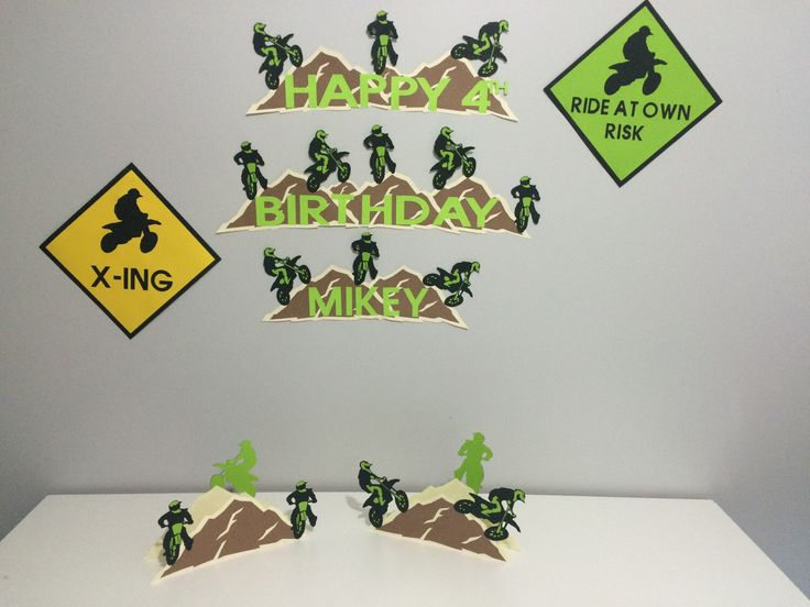 A personal favorite from my Etsy shop https://www.etsy.com/ca/listing/510332443/dirt-bike-motorcross-birthday-party