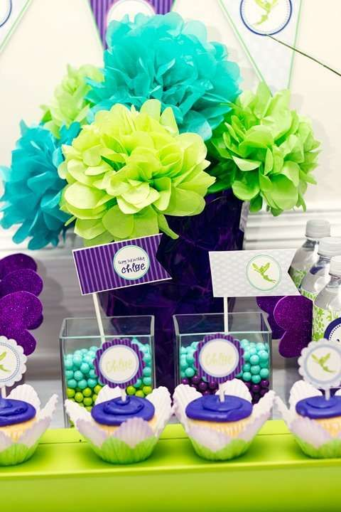 Purple and Lime Whimsical Birthday Party Ideas | Photo 7 of 11 | Catch My Party