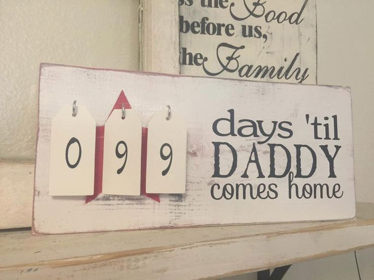 Daddy Deployment Countdown by iSTICKerTHAT on Etsy https://www.etsy.com/listing/243571821/daddy-deployment-countdown