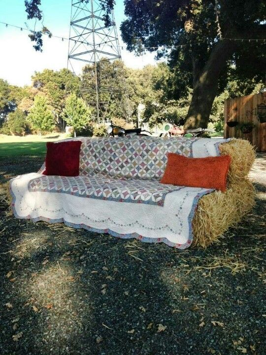 Hay bale couch!