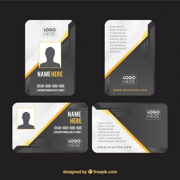 Free Id Card Template Svg Dxf Eps Png Id Card Template Card Template Card Templates Free