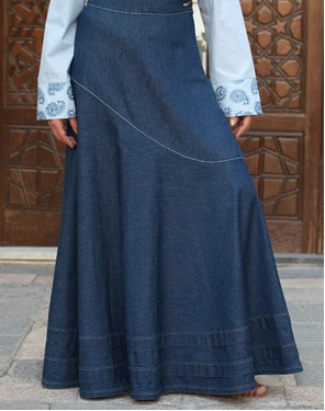 Extremely long denim skirt. I love it!
