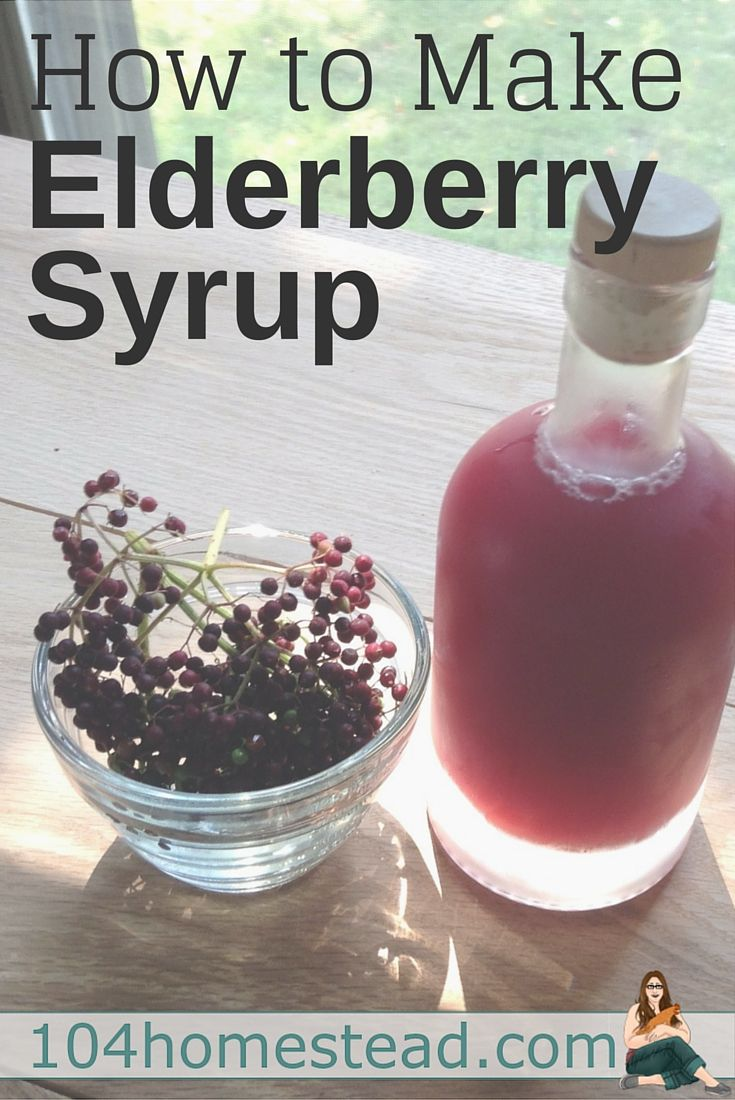 Elderberries are chocked full of vitamins and minerals. In the form of elderberry syrup, they are a homesteader's go-to method to stave off winter ailments.