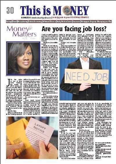 Nimi Akinkugbe writes on coping with job loss and unemployment. To read, pick up your copy of Business Day and The Punch Newspapers today Do visit www.moneymatterswithnimi.com for more insightful resources.  ‪#‎Unemployment‬ ‪#‎Jobs ‪#‎AskNimi‬ ‪#‎MoneyMattersWithNimi‬ ‪#‎PersonalFinance‬ ‪#‎Money‬