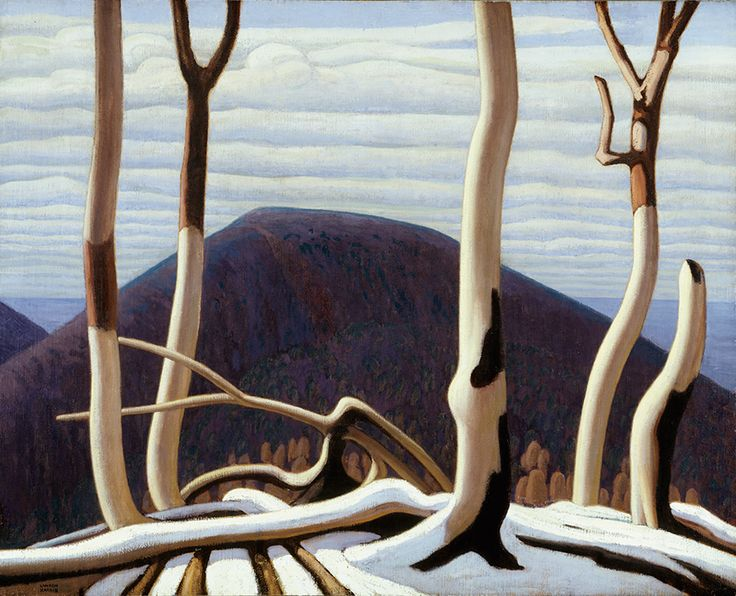 """Despite having very different styles, Lawren Harris encouraged Thomson to find his own poetic form of expression. Harris, """"Above Lake Superior,"""" c. 1922, Art Gallery of Ontario."""