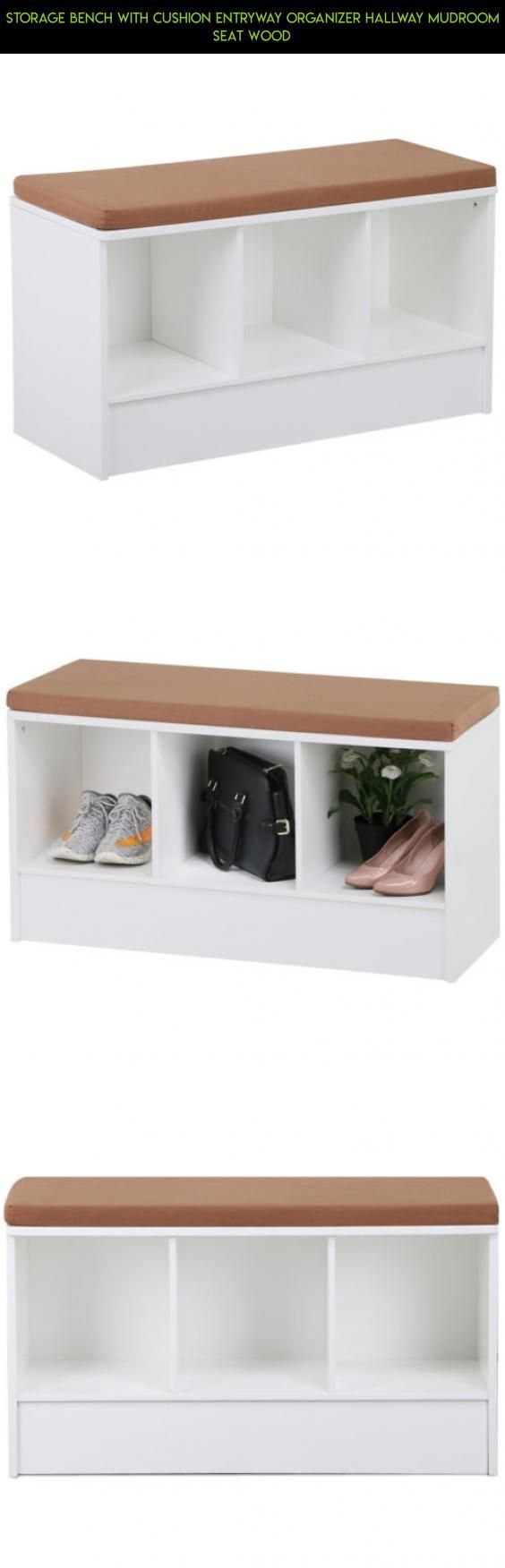 Storage Bench with Cushion Entryway Organizer Hallway Mudroom Seat Wood #products #plans #racing #bench #parts #camera #gadgets #shopping #kit #storage #technology #entryway #fpv #drone #tech