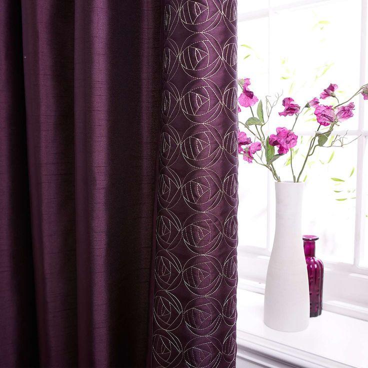 Plum Nouveau Rose Thermal Pencil Pleat Curtains Dunelm