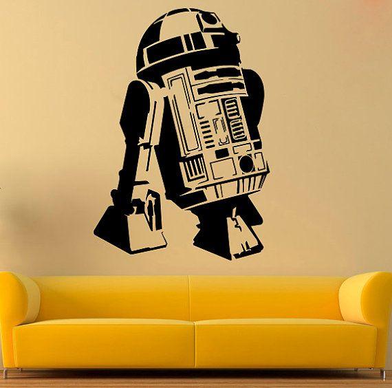 R2-D2 Wall Decal Star Wars vinile adesivo Comics da parete in vinile di decalcomanie parete Decor /1mkl/