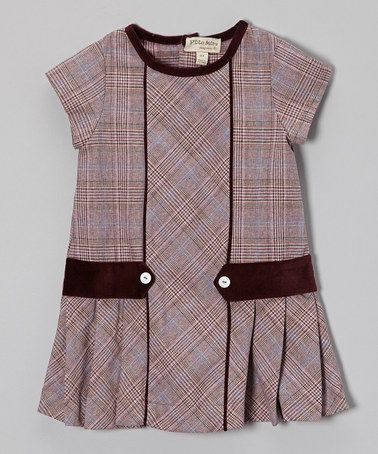 Take a look at this Purple Plaid Pleated Cap-Sleeve Dress - Infant, Toddler & Girls by P'tite Môm on #zulily today!