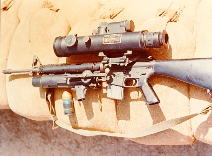 M16 With Xm148 Grenade Launcher And Starlight Scope Ar