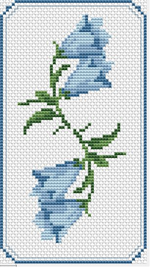 Floral Bookmark free cross stitch pattern