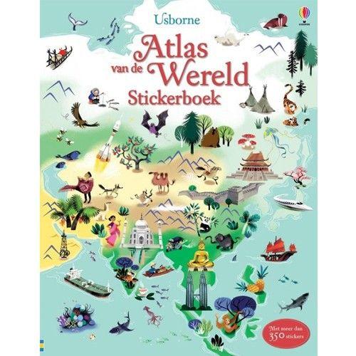 Usborne - Atlas van de Wereld stickerboek 8 jr+