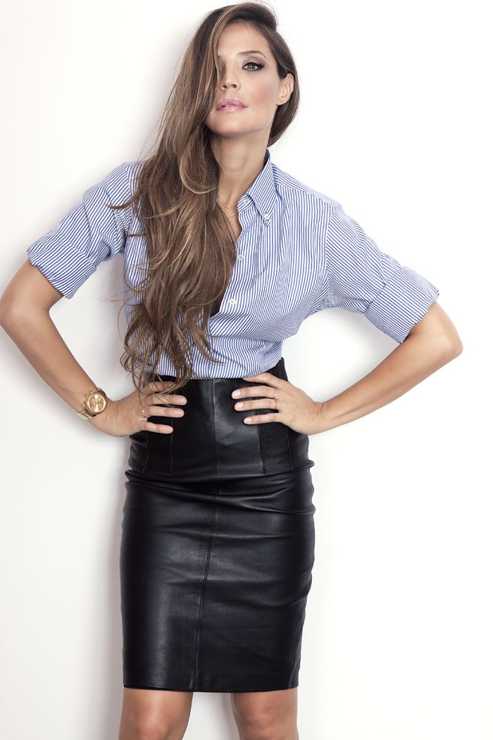 Pencil style, leather skirt -- dont mind if i do