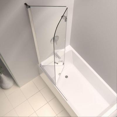 DreamLine AquaFold 36 in. x 58 in. Semi-Framed Pivot Tub/Shower Door in Chrome-SHDR-3636580-01 - The Home Depot