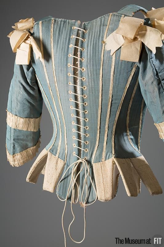Corset Medium: Silk, silk ribbon, whalebone Date: c. 1770 Country: possibly Europe Object Number: P82.1.16