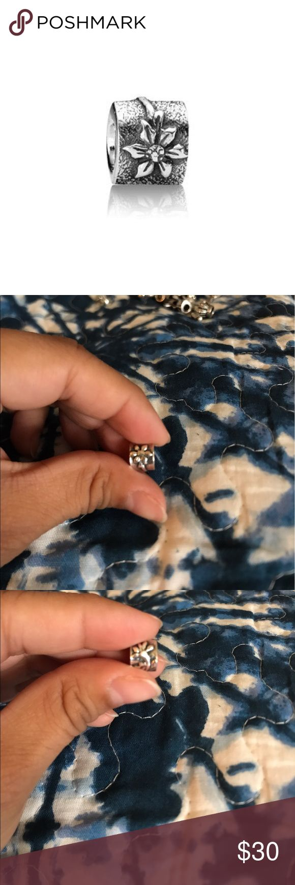 Poinsettia Flower Pandora Charm ALE S925 Great condition Pandora Jewelry