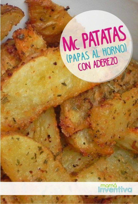 Receta facil con Papas al horno sazonadas | Baked Potatoes easy recipe