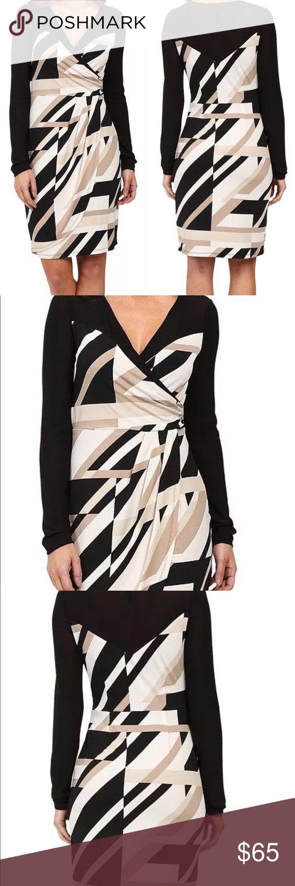 Laundry by Shelli Segal Faux Wrap Dress Size 6 M Laundry by Shelli Segal Faux Wr…