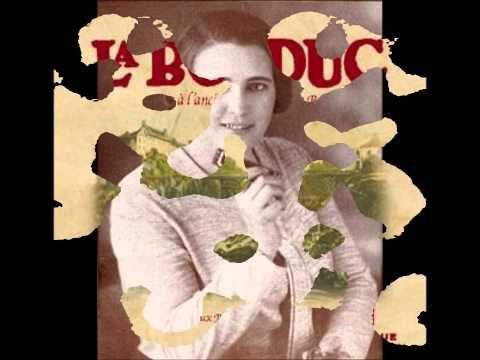 """La Bolduc - J'ai un bouton sur la langue humouristic songs of """"La Bolduc"""""""