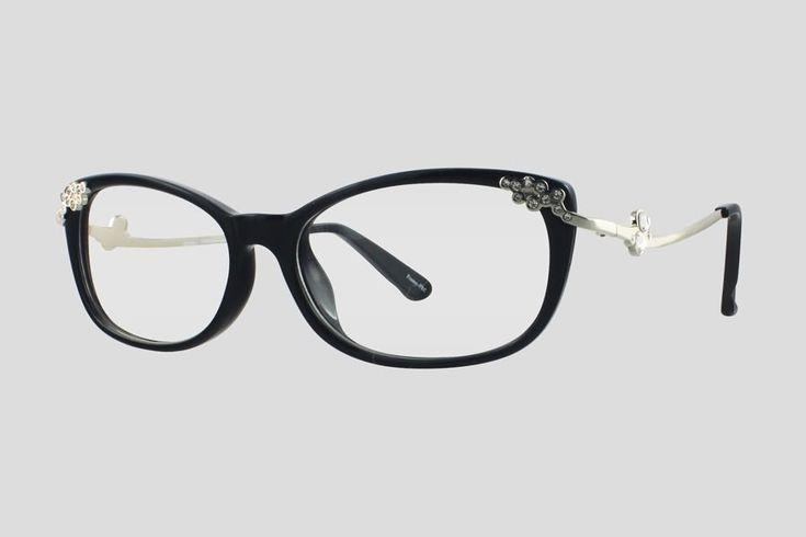 #Brillen van Reor. Dit is de Bernarda (art. nr. F10.628FBL), complete bril vanaf € 39,90. #Montuur van zwart TR-90 en zilverkleurig RVS. Verkrijgbaar in meerdere kleuren.