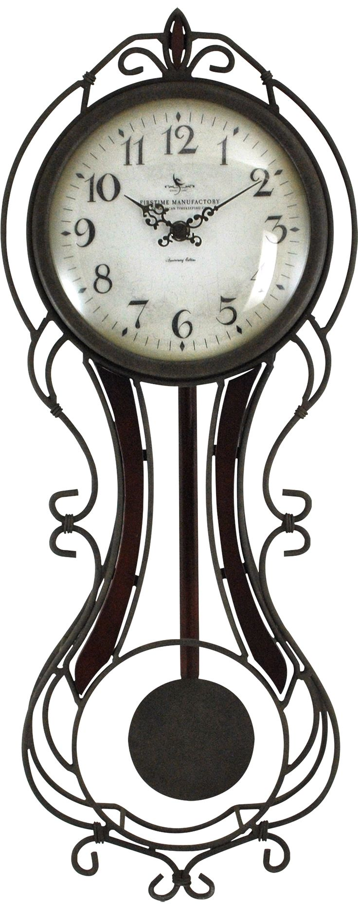 Am americana country wall clocks - Firstime Fleur Grand Pendulum Clock