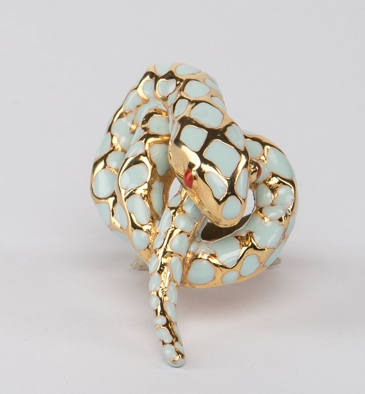 // Vergara Collection - Blue Snake Ring - ELEONORA VARINI