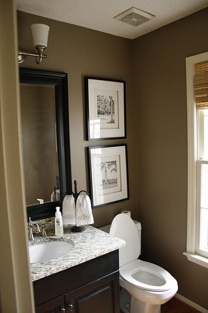 1000 ideas about small dark bathroom on pinterest dark for Bathroom ideas paint colors