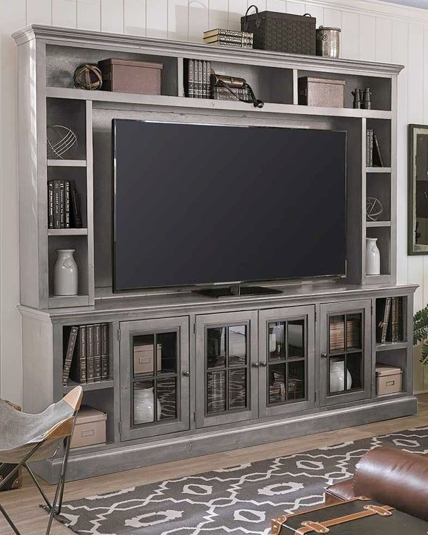 Churchill Gray 96 Inch Wall Unit Living Room Furniture Recliner Living Room Entertainment Living Room Tv Stand