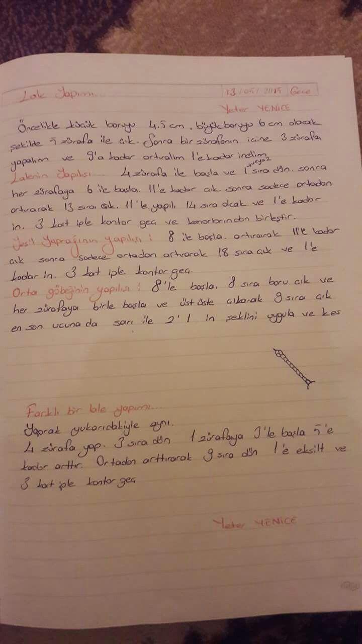 Yazılı iğne oyası örnekleri