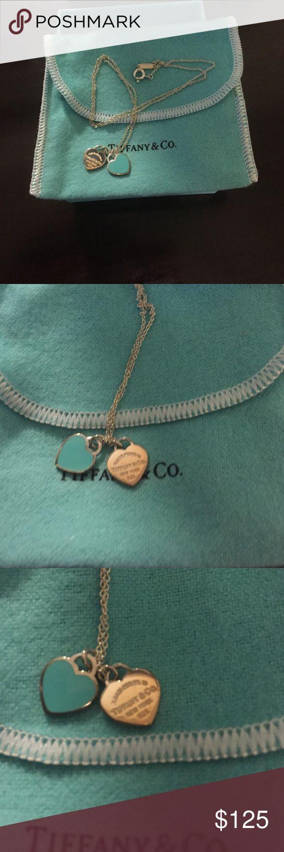 New Tiffany &Co double heart necklace New Tiffany &Co. Necklace Double Hearts Tiffany & Co. Jewelry Necklaces