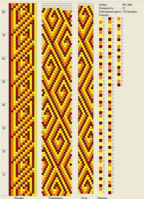 Bead Crochet Pattern. 12 around.