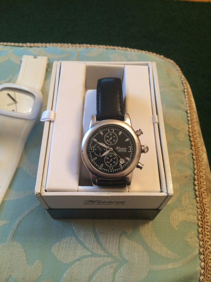 Часы из моей коллекции. Эти серебряные часы я получил на 30-тилетие.