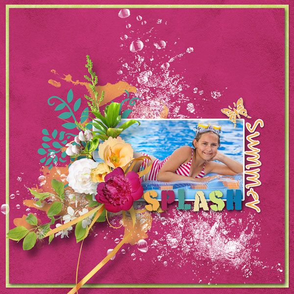 """NEW*NEW*NEW  """"Summer splash"""" by Design by Brigit   5 packs just $1.00 each  https://www.digitalscrapbookingstudio.com/collections/coordinated-collections/summer-splash/?features_hash=13-11  RAK for a friend Lydie"""