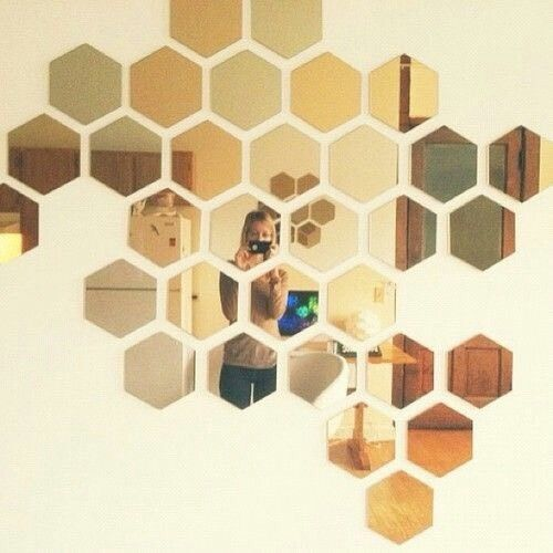 New Ikea Honefoss 2-Tone Colored Hexagon Mirrors 10 Pack 19661 Julia Treutiger #IKEA
