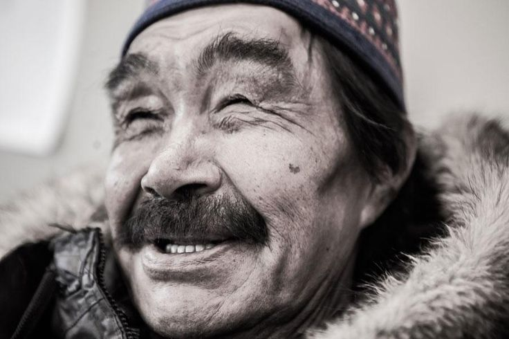 An #Inuit #Elder in Nunavik Quebec.  See more photos from our expeditions to Nunavik: http://www.opxpeditions.com/kuururjuaq/gallery  #people #smiles #portrait