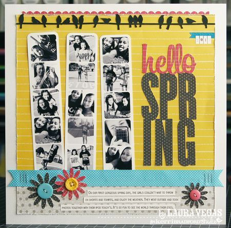 great way to show off lots of photos on a single page: Scrapbook Ideas, Photos Booths, Hello Spring, Scrapbook Layouts, Laura Hellospring2012, Laura Vegas, Photos Strips, Vegas Scrapbook, Scrapbooking 3